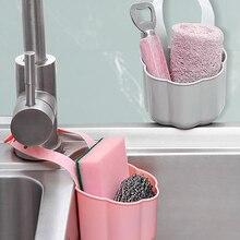 Shelf Basket Faucet-Organizer Kitchen-Sink-Drain-Rack Sponge Debris-Rack Hanging-Storage