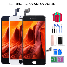 AAA+++ LCD Screen For iPhone 7 6s Check & Test One by One LCD Display Replacement For iPhone8 5s 6 100% No Dead Pixel 50pcs brand new no dead pixel all tested alibaba china clone screen for iphone 5s lcd test one by one free shipping