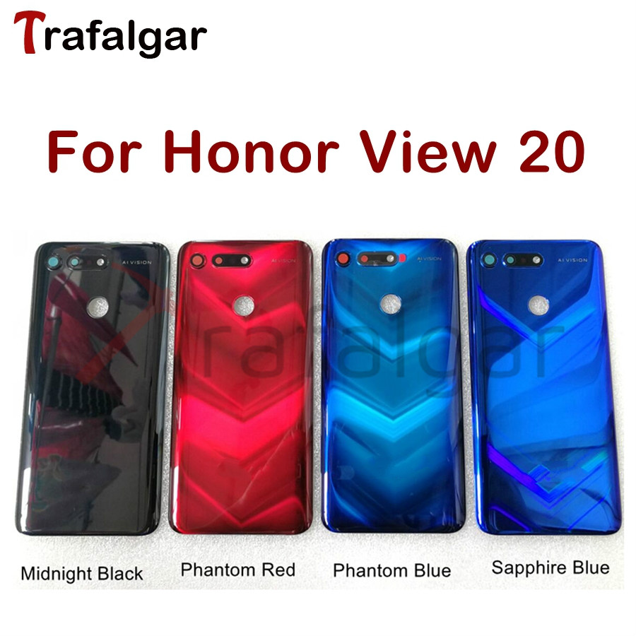 For Huawei Honor V20 View 20 Battery Cover Back Glass Rear Door Window Housing Case For Honor View 20 Back Glass Panel PCT L29Mobile Phone Housings & Frames   -