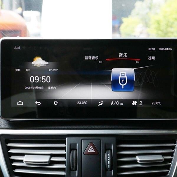 10.25 pouces Android 8.1 4G + 32G voiture GPS Navigation lecteur multimédia Bluetooth WiFi affichage pour Mercedes Benz classe E W212 2009- - 5