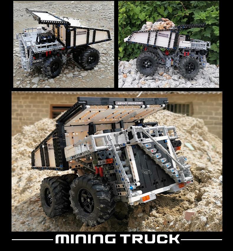 MOULD KING 13170 Compatible 29699 Technic Liebher Terex T284 Mining Excavator Dump Building Block (2044PCS) 14