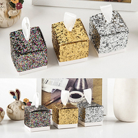 50PCS/100PCS creative glitter powder silver onion powder wedding candy box European square candy box gift boxes christmas box