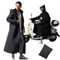 New Motorcycle Rainwear EVA Raincoat Zipper Hooded Poncho Long Style Rain Jacket for Women\/Men Bicycle Rain Coat Hiking Poncho