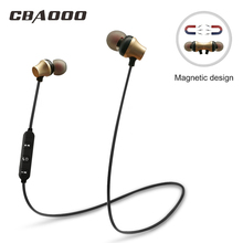 CBAOOO wireless headset stereo Bluetooth in-ear sports subwoofer with microphone for Xiaomi Huawei