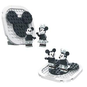 Image 5 - 842PCS קטן אבני בניין צעצועי תואם Lepinging מיקי מיני סטימבוט ווילי מתנה עבור בנות בני ילדי DIY