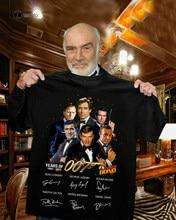 James bond 007 assinatura camisa obrigado para memórias jb 007 vintage masculino presente...