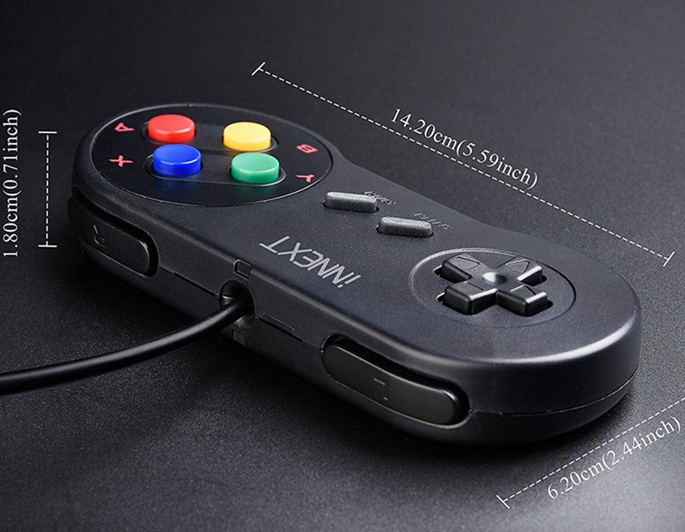 cheapest 4pcs lot SNES USB Game Controller Gaming Gamepad for Nintendo SNES Game Pad for Windows PC MAC Raspberry