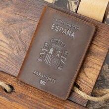 Персонализированная Обложка для паспорта из натуральной кожи