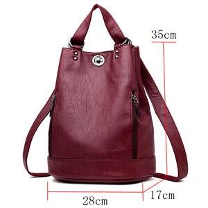 Image 2 - LANYIBAIGE נשים תרמיל תרמילי עור באיכות גבוהה עבור נערות נשי בית ספר כתף תיק Bagpack המוצ ילה plecak