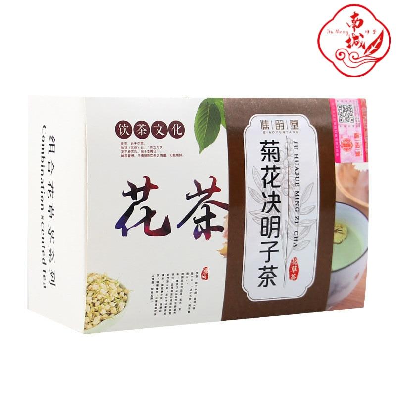 10 упаковок/коробка с хризантемами кетсумеиси османтус Волчья ягода жимолости сочетание чая оставаться поздно, чтобы защитить печень