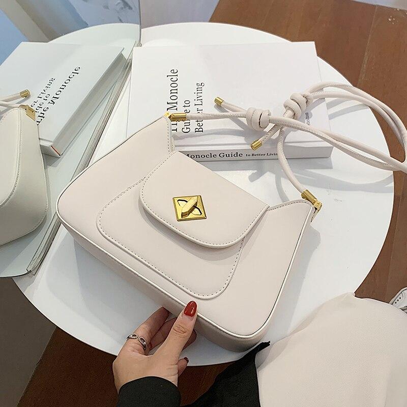 с доставкой Small PU Leather Underarm Bag  Trend Bag Chain Shoulder Handbags Female Travel Branded Hand Bag Crossbody Bags