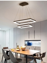 Modern LED Chandelier Lighting For Living Room Bedroom Dining Room Study Room White Black Coffee LED Chandelier Lamp AC 110-220V стоимость