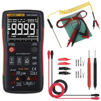 ANENG-multímetro Digital Q1, valores eficaces auténticos, 9999 recuentos, probador analógico, profesional, condensador...
