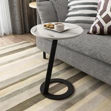 Personalizado nórdico mármol mesa de café del lado Simple sala de estar sofá esquina luz lujo mesa de noche armario pequeña mesa redonda Bedro