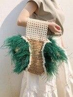Casual Weaving Pearl Straw Bags Women Handbags Fashion Pearl Shoulder Messenger Bags Ladies High Quality Beach Croosbody Bag New
