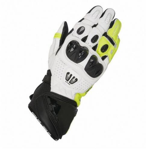 Offres spéciales! Alpin GP Pro R2 hommes moto Sport course noir blanc gants en cuir