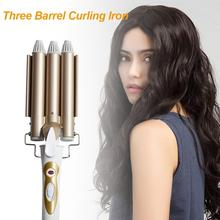 Three Barrel Curling Iron Hair Curler Big Wave Electric Hair