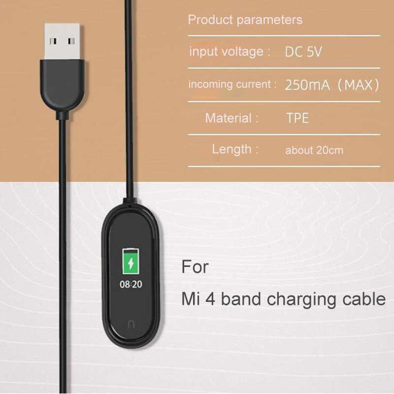 Pour Xiao mi mi bande 4 USB chargeur Dock câble de remplacement cordon chargeur adaptateur pour mi bande 2 3 4 Smart bracelet accessoires