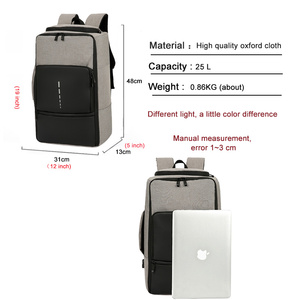 Image 5 - Fashion Trend Mens Laptop Backpack 2020 Large Capacity Oxford Cloth Waterproof Charging USB Travel Bag Male Business Backpack