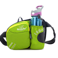 Custom Waterproof Ripstop Nylon Waist Pack, Multi Colors Fanny Pack Waist Bag With Water Bottle Holder