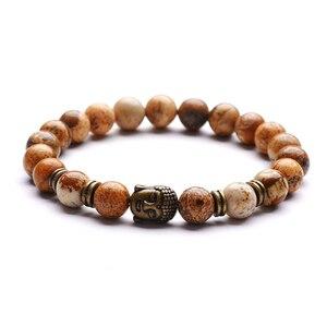 Image 4 - Bracelet pendentif de Yoga, Vintage, breloque, bijou de méditation religieuse, bouddha pour hommes, nouveauté, pierre naturelle, Bracelets pour femme