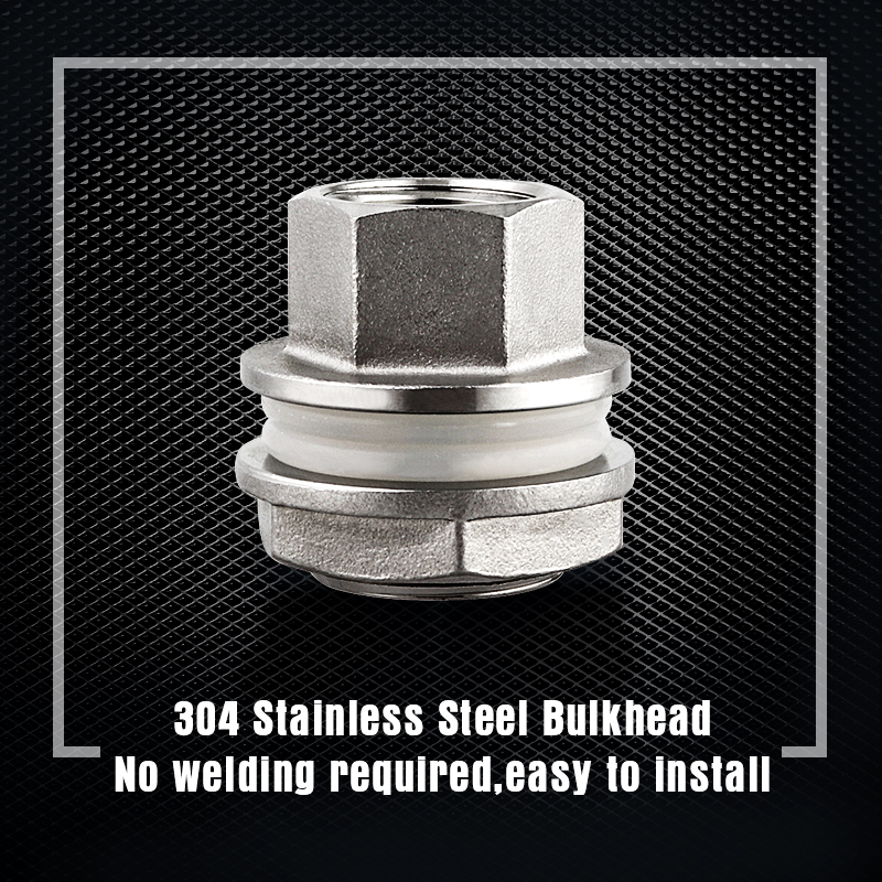 Weldless-Bulkhead-1-2-Compact-Home-Brew-Kettle-Weldless-Fittings-Stainless-Construction-Food-Grade-Silicone-Gasket (5)