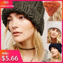 Повседневные зимние вязаные шапки для женщин; модные теплые шерстяные вязаные наушники; мягкие шапки для девочек; женские шапки высокого качества
