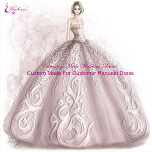 Waulizane Wedding-Dresses NEW of Us Link Contact Please Custom-Made According-To-Cutsomer's-Request