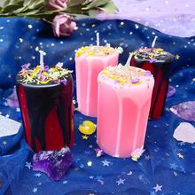 Zachodni horoskop magiczny rytuał świeca runy wzmocnienie energii ziołowe ssanie złote świece życzenie tranzyt świeca na modlitwa religijna tanie tanio magic candle Filar Religijne działań Ogólne świeca Kolorowe płomień Parafina magic candle 00378