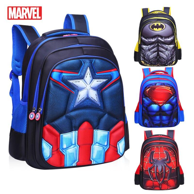MARVEL Superman Batman Spiderman Schoolbags Children Kindergarten Nursery School Bag Bagpack Schoolbags Kids Student Backpack