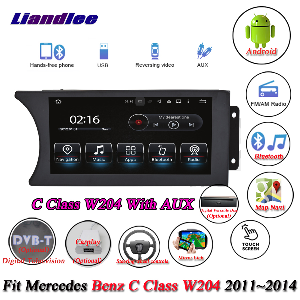 Liandlee Car Android System For Mercedes Benz C Class <font><b>W204</b></font> 2011~2014 <font><b>Radio</b></font> DVD Player AUX <font><b>GPS</b></font> Navi Navigation Screen Multimedia image