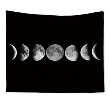 Домашнее подвесное одеяло Белый Черный Солнечный гобелен с Луной настенный Небесный коврик настенный гобелен настенные ковры украшение общежития
