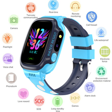 GEJIAN kids watches IPX7 waterproof touch screen SOS mobile phone call device GPS positioning tracker anti lost childrens watch