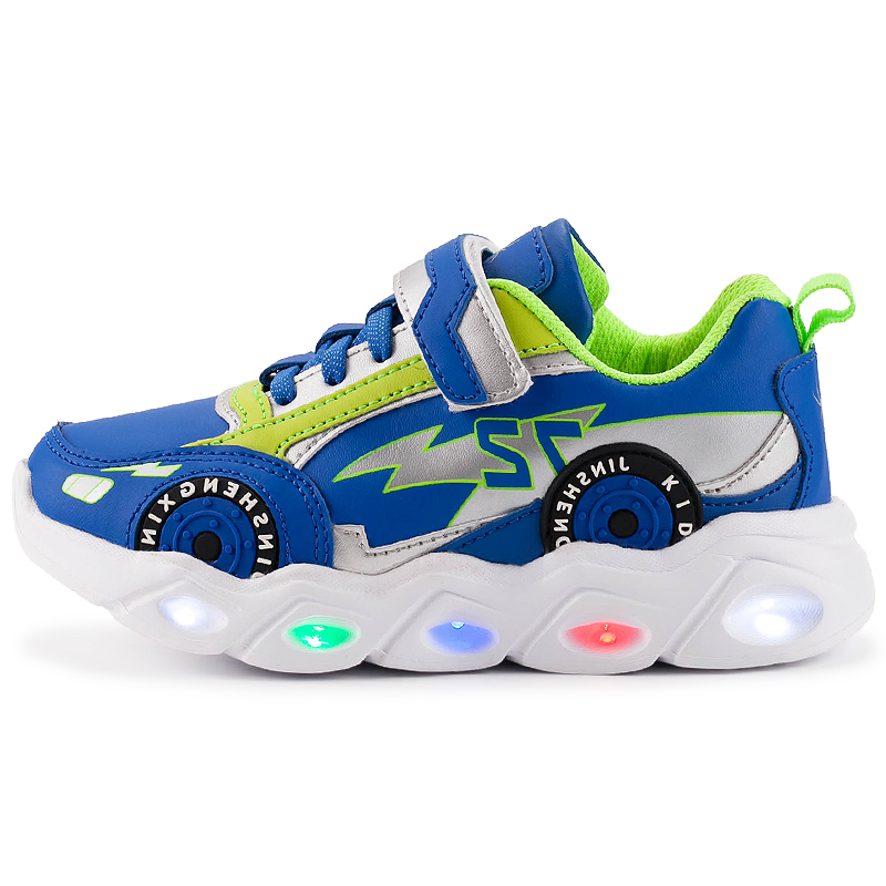 Children Sneakers For Girls Kid Girls Cartoon Princess Crystal Led Luminous Sport Run Sneakers Shoes Pink Light Up Shoes