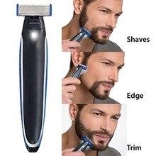 Мужская электрическая моющаяся перезаряжаемая бритва, электрическое лезвие для машинки для бритья, триммер для бороды