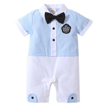 Baby Romper Summer Cotton Baby Boys Clothes Gentleman Jumpsuit Newborn Clothes Kids Costume For Baby Overalls Clothes 0-24 Mont