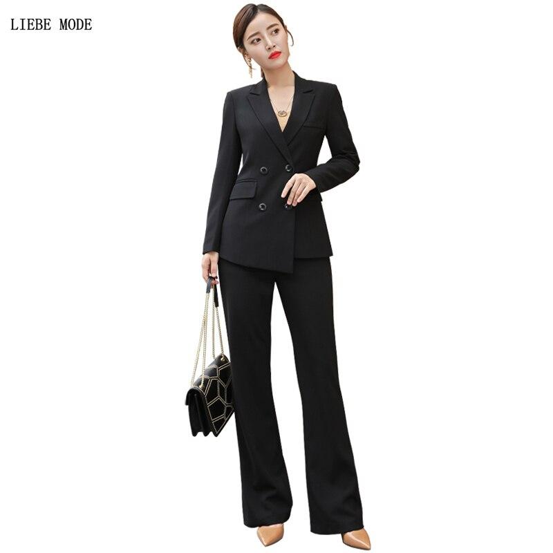 High Quality Office Uniform Designs Women Office Wear Jacket Wide Leg Pants Suits Female Red Suite Woman Two Piece Blazer Sets