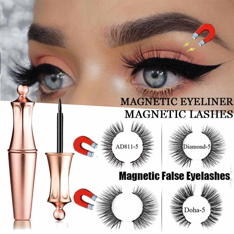 1Pair 5-Magnetic Eyelashes Magnet Mink Lashes Magnetic False Lashes Eyelash Extension Eyes Make Up Cosmetic Tools Maquillaje