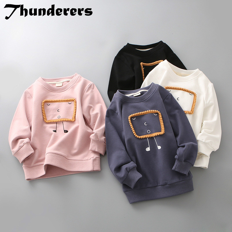 Wild-Pullover Sweater Print Autumn Cartoon Children's Cute And Casual Models Simple