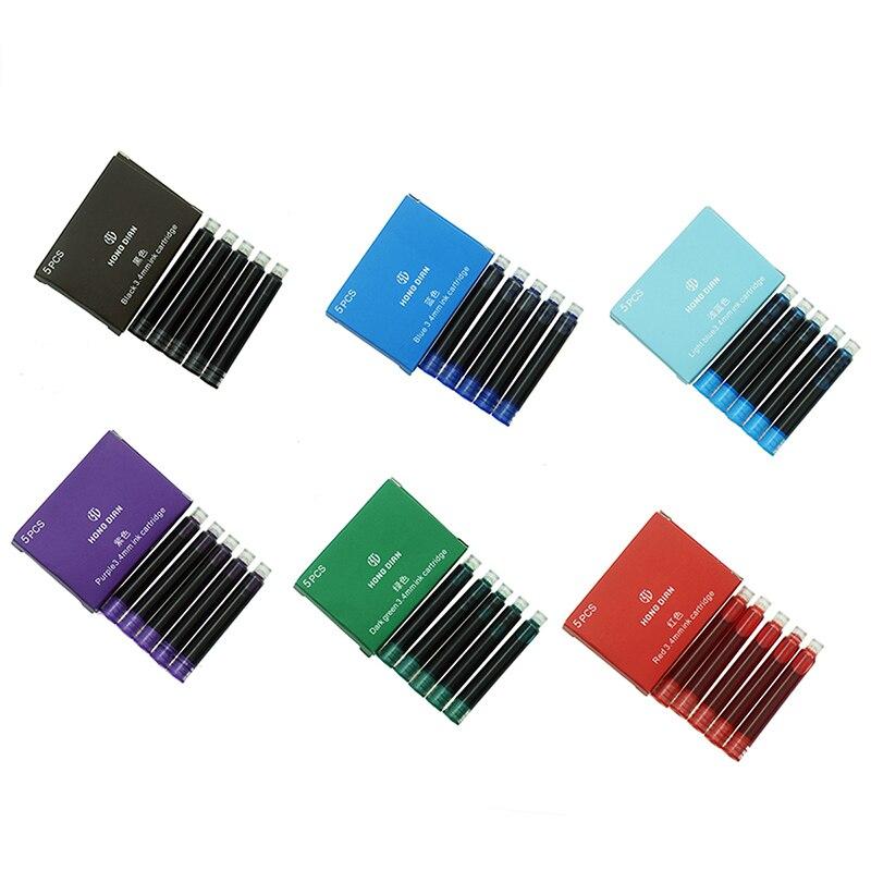 Ручка перьевая Hongdian, 30 шт., чернильные картриджи диаметром 3,4 мм для HongDian Forest 6013, 517D, чернильные ручки/Шариковые Ручки