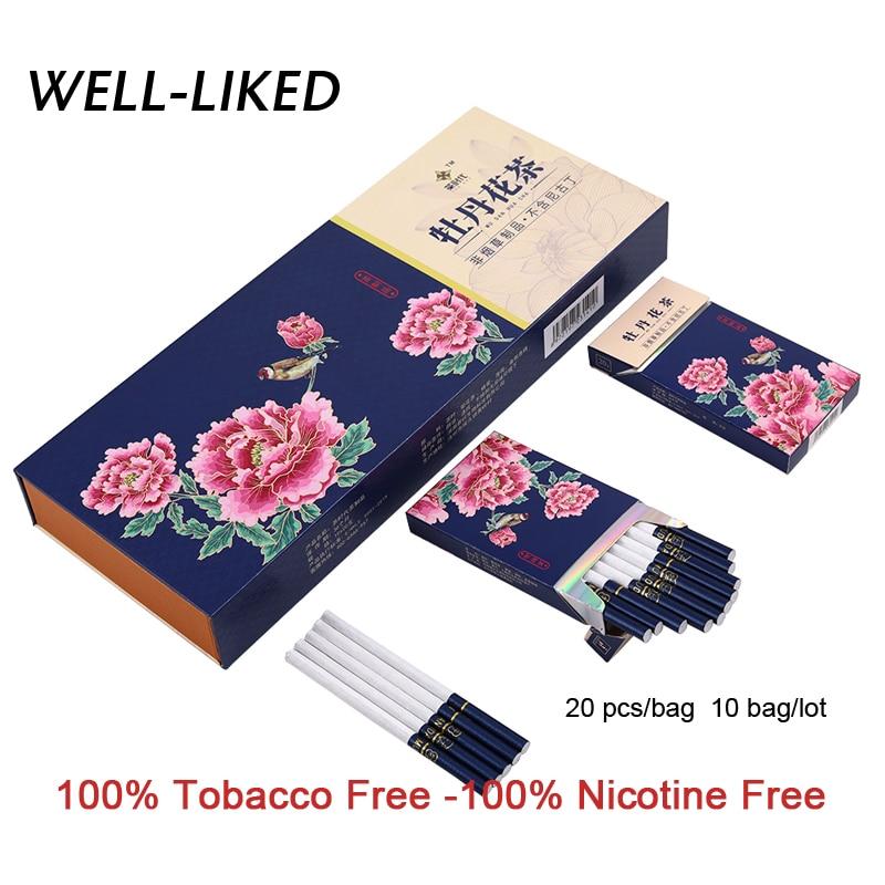 NEW Arrival Peony Tea Cigarette Fine Tea Herbal Cigarettes Women Men Healthy Cigarettes No Nicotine & Tobacco