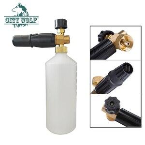 Image 3 - Bico pulverizador de sabão para neve, arruela de alta pressão para automóveis, lançador karcher, níquel, makita bort bosche, acessórios de lavagem, city wolf