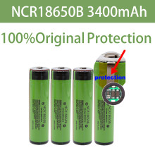 100% Original Protected 18650 NCR18650B Rechargeable Li-ion battery 3.7V With PCB 3400mAh For Flashlight 18650 batteries use