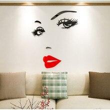3D wall stickers beauty acrylic fashion creative diy modern design sofa background home decoration