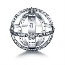 Strolls girl 100% anelli a sfera con sfera astronomica in argento Sterling 925 costellazioni anello da dito per regali di gioielli da sposa da donna