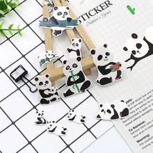 Panda Sticker Cartoon Anime Bamboo Skateboard Computer Photo Album Luggage Stickers Kids Toys Cute Funny Stickers(China)