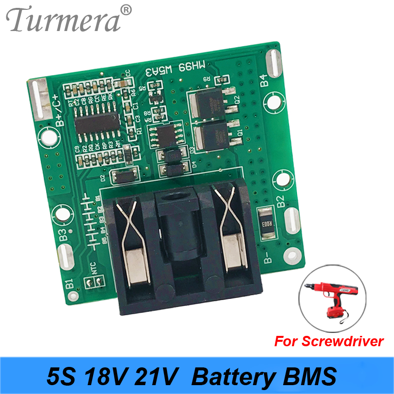 5S 18v 21v 20A Li-ion Lithium Battery BMS 18650 Battery Screwdriver Shura Charger Protection Board Fit For Dewalt