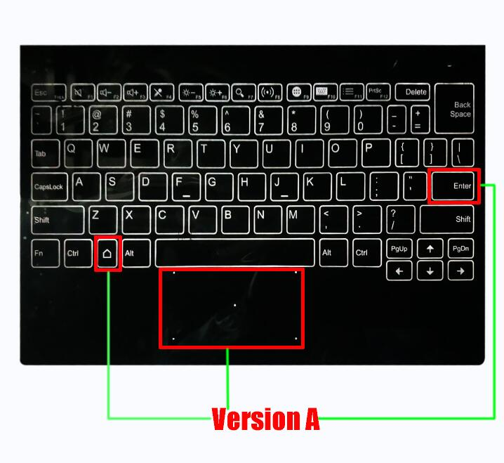100% New English Keyboard For Lenovo Yoga Book YB1-X90L YB1-X90F Keyboard Version A Version B Version C Version D Assembly