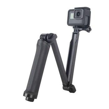 3 Way Selfie Stick Grip Waterproof Monopod Tripod Stand for GoPro Hero 8 7 6 5 4 Yi 4K Sjcam Eken for Go Pro Accessory Dropship