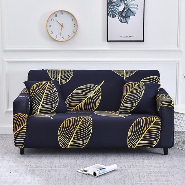 Géométrique L forme canapé couvre Spandex pour salon canapé couverture coin canapé couverture chasse longue couverture élastique matériel